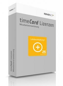 timeCard Lohnbuchhaltung+ Erweiterung 25 Mitarbeiter