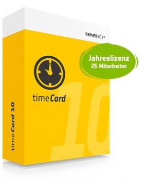 timeCard v10 - 25 MA - Lizenz