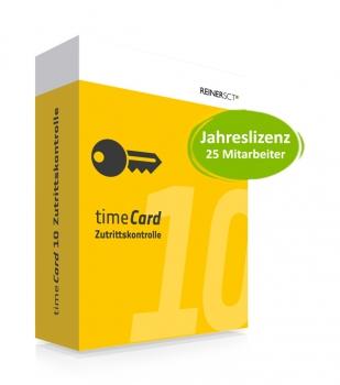 timeCard 10 Zutrittskontrolle Jahreslizenz 25 MA