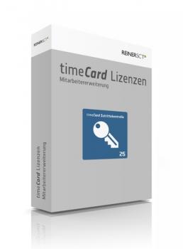 timeCard Zutrittskontrolle 6 - Erweiterung um 25 Lizenzen